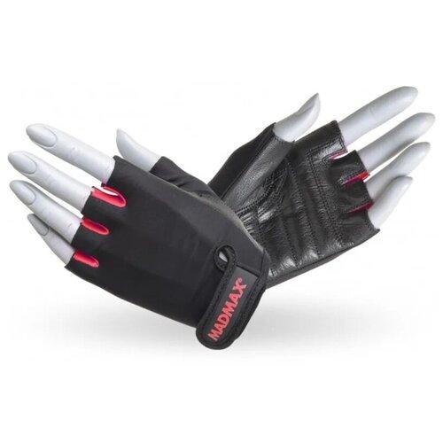 Перчатки для фитнеса / перчатки спортивные Rainbow MAD MAX, натуральная кожа, розовые L