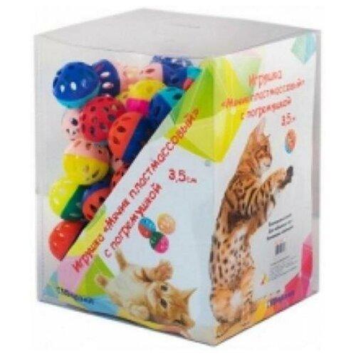 Yami-Yami 1шт. Игрушка Мячик пластмассовый для кошек, 3,5см (2400), 0,007 кг (2 шт) yami yami 1шт игрушка мячик пластмассовый для кошек 3 5см 2400 0 007 кг 2 шт