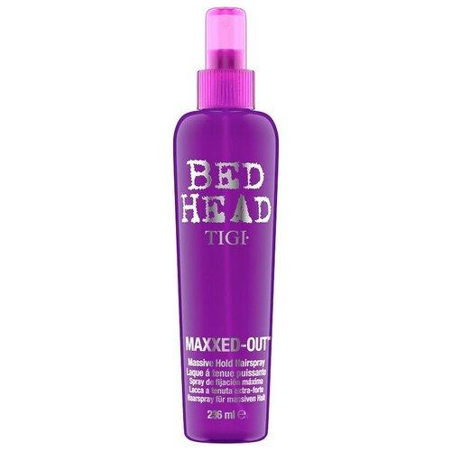 TIGI Bed Head Maxxed Out Massive - Cпрей для сильной фиксации и блеска волос 236мл tigi лак для блеска и фиксации masterpiece bed head 340 мл