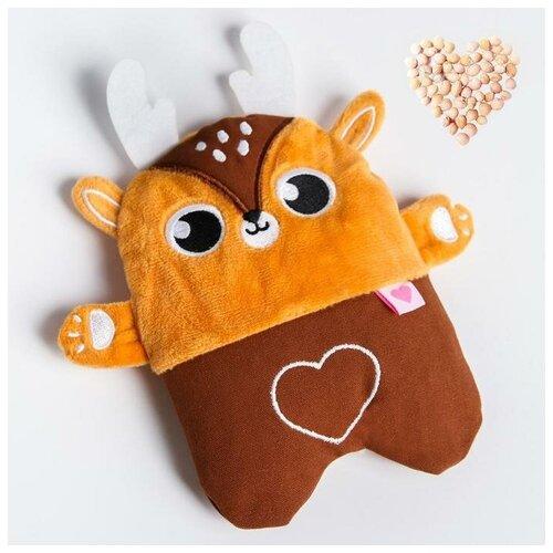 Крошка Я Развивающая игрушка - грелка с вишнёвыми косточками «Оленёнок»