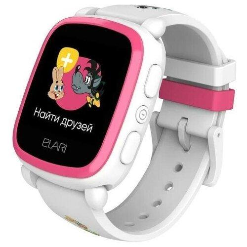 Часы ELARI KidPhone «Ну, Погоди!» Розовый/белый