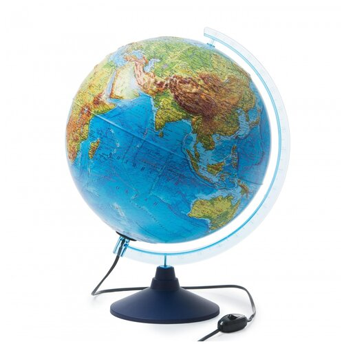 Глобус Globen Физико-политический, рельефный, 320 мм, с подсветкой, Евро (Ке013200233)