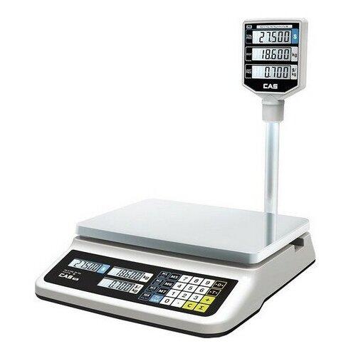 Торговые весы CAS PR-15P LCD cas весы торговые cas er jr 15cbu er jr 15cbu