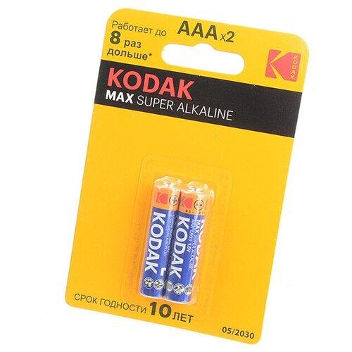 Фото - Kodak Батарейка Kodak Max LR03 BL2, 2шт kodak батарейка kodak super heavy duty r6 bl4 4шт