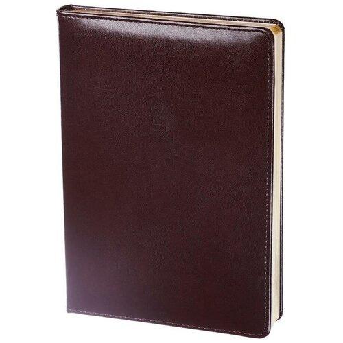 Купить Ежедневник недатированный InFolio Britannia натуральная кожа А5 160 листов бордовый (золотистый обрез, 140х200 мм) 1 шт., Ежедневники
