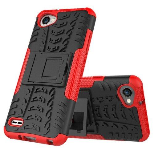 Чехол-бампер MyPads для LG G6 mini / LG Q6 / LG Q6 Plus / LG Q6a M700 противоударный усиленный ударопрочный красный