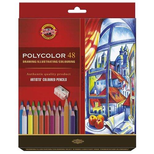 KOH-I-NOOR Карандаши цветные художественные Polycolor 3836, 48 цветов (3836048007KZ)