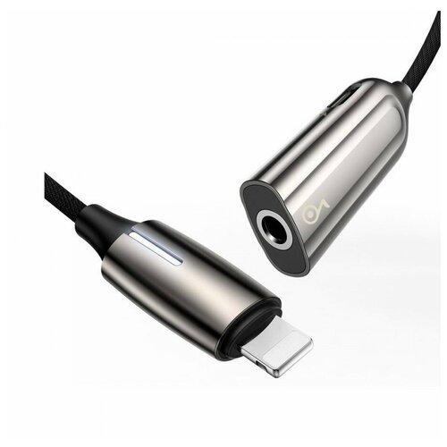 Переходник Baseus 2-in-1 iP Male - Lightning 3.5mm Female Adapter L56 Tarnish (CALL56-0A) аксессуар baseus lightning male to 3 5mm female adapter l3 5 black call3 01