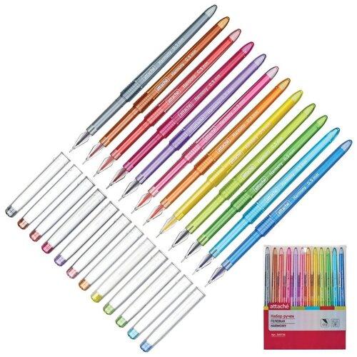 Набор гелевых ручек Attache Harmony,набор 12 цветов 2 шт. недорого