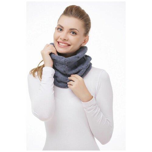 Снуд LAMBONIKA Версаль, цвет: синий;серый меланж, размер: 38-40