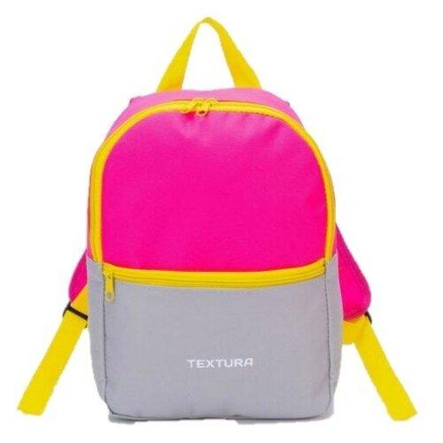 Купить Детский рюкзак Textura с карманом на молнии 22х30х9см розовый/нейтральный серый, Рюкзаки, ранцы
