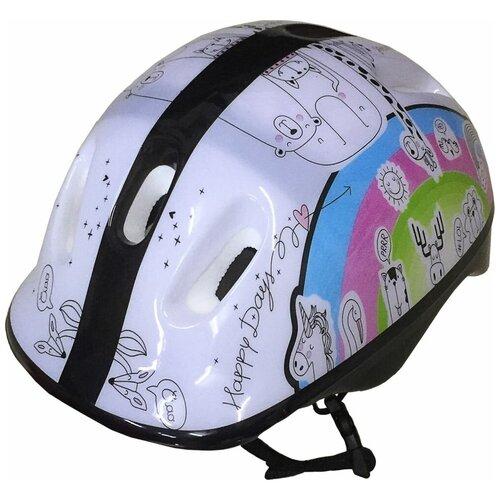 Шлем защитный подростковый Atemi, аквапринт зверушки, размер окруж (52-54 см), м (6-12 лет), Akh06gm (м)