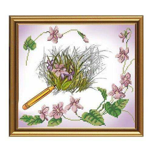 Рисунок на ткани бисер нова слобода арт.БИС3080 рисунок 29х26 см