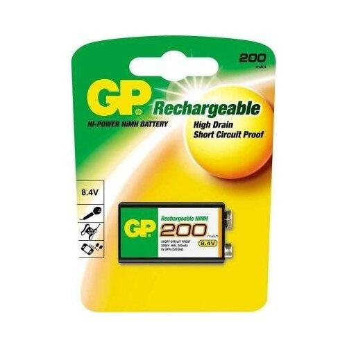 Фото - GP Аккумулятор GP 20R8H-BC1 200 mAh 6F22 1 шт элемент питания gp high voltage 476a 6v 1 шт