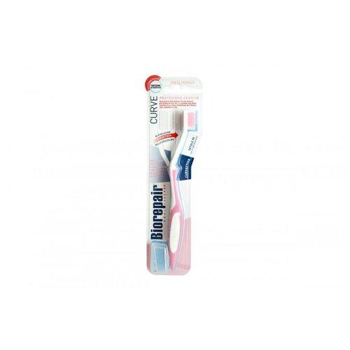 Зубная щетка изогнутая для защиты десен Biorepair CURVE Protezione Gengive