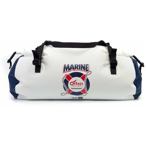 Гермосумка Marine 40л белый/темно-синий гермосумка orlan экстрим цвет камуфляж 100 л