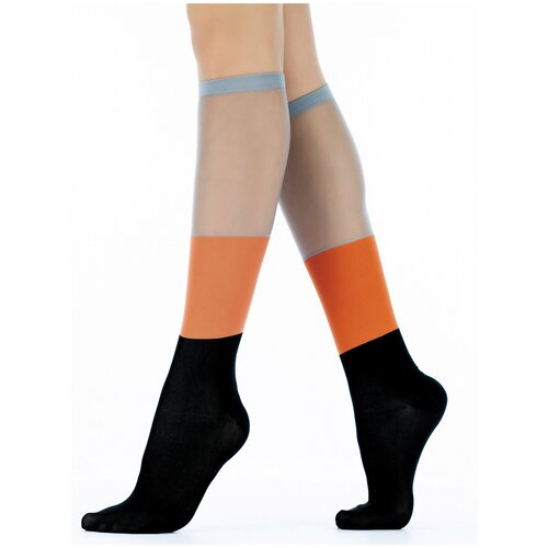 Гольфы Giulia Гольфы Giulia WG1 CRYSTAL PA 005 размер 36-38, nero/orange/steel (Разноцветный)