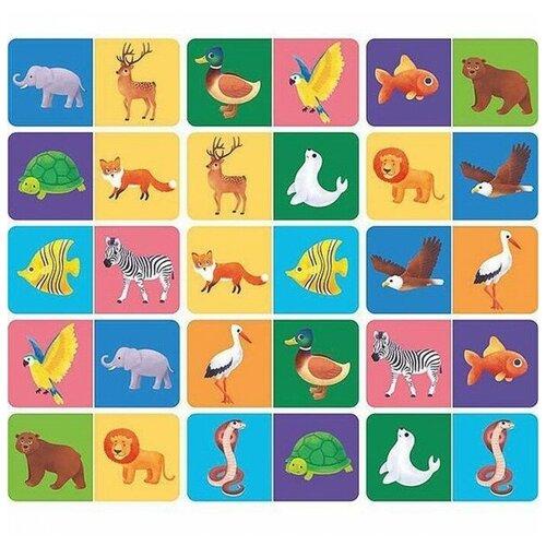 Деревянная игрушка Paremo Игровой набор Домино Животный мир