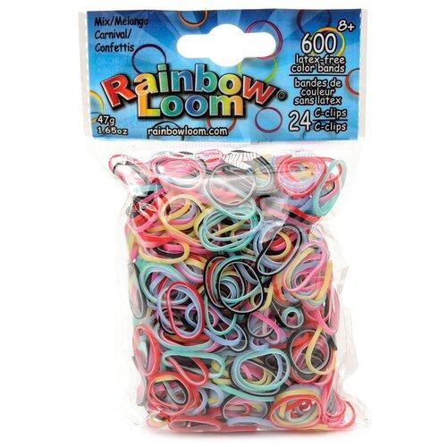Резинки для плетения браслетов Rainbow Loom Резинки Карнавал Микс, Carnival Mix (B0166)
