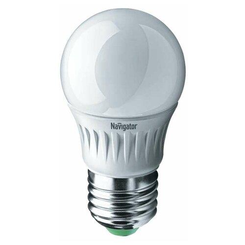 Лампа светодиодная 94 467 NLL-G45-7-230-2.7K-E27 7Вт шар 2700К тепл. бел. E27 500лм 176-264В Navigator 94467 (упаковка 10 шт)