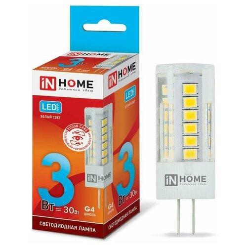 Лампа светодиодная LED-JC-VC 3Вт 12В G4 4000К 260лм IN HOME 4690612019796 лампочка in home led jc vc g4 3w 12v 4000k 270lm 4690612019796