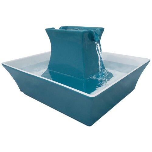 Автоматическая поилка для собак и кошек PetSafe Drinkwell Pagoda керамическая синяя (1 шт) недорого