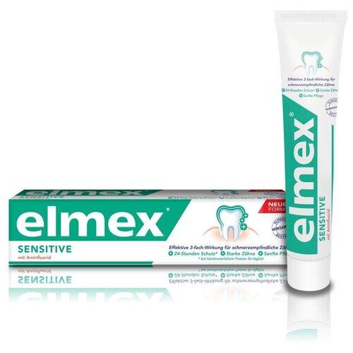 Фото - Зубная паста ELMEX Сенситив Плюс для чувствительных зубов, 75мл зубная паста для чувствительных зубов colgate sensitive pro relief восстановление и контроль зубная 75мл