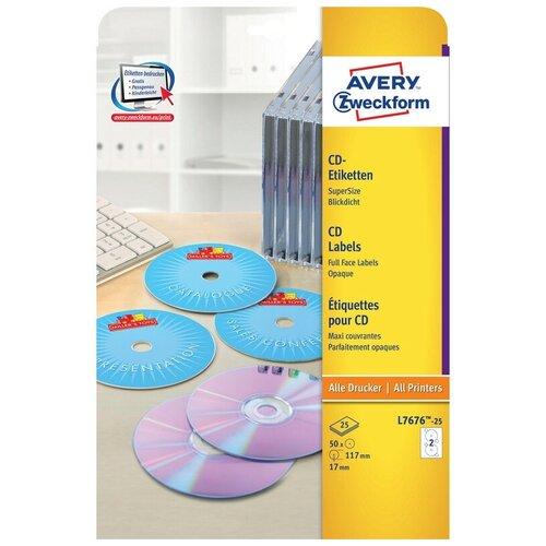 Фото - Этикетки самоклеящиеся для CD/DVD, д/17, 50 шт, Avery Zweckform, L7676-25 рок волна 1 cd dvd
