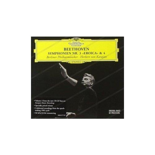 Компакт-диски, Deutsche Grammophon, HERBERT VON KARAJAN - Beethoven: Symphonies Nos.3 & 4 (CD) виниловая пластинка herbert von karajan offenbach overtures 0028948363988