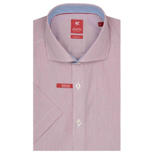 Рубашка pure размер M белый/бордовый