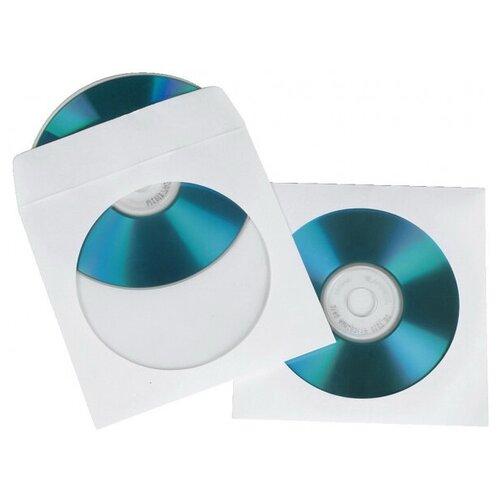 Конверт Hama на 1CD/DVD H-62671, белый конверт для cd dvd hama h 62671 00062671 на 1cd dvd белый упак 50шт