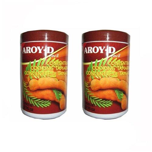 Паста из тамаринда Aroy-D (2 шт. по 454 г) паста чили с соевым маслом aroy d 260 г
