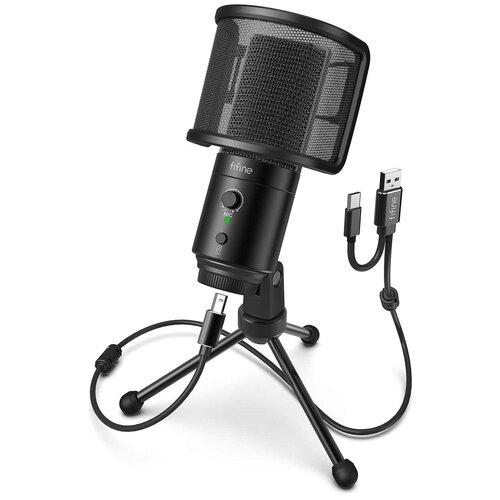 Конденсаторный USB-микрофон FIFINE K683A, Black
