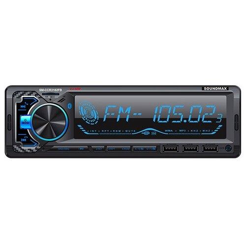 SOUNDMAX Автомагнитолы SM-CCR3182FB(черный)\RGB\New