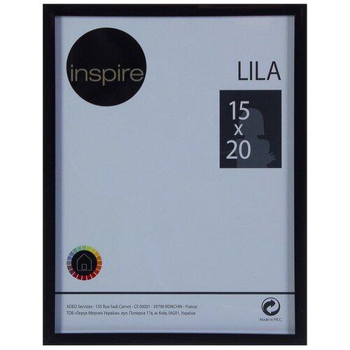 рамка inspire lila 21х29 7 см цвет белый Рамка Inspire «Lila», 15х20 см, цвет чёрный