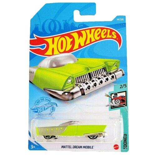 Hot Wheels Базовая машинка Mattel Dream Mobile, зеленая mattel cars w1938 базовая машинка эрик лантели