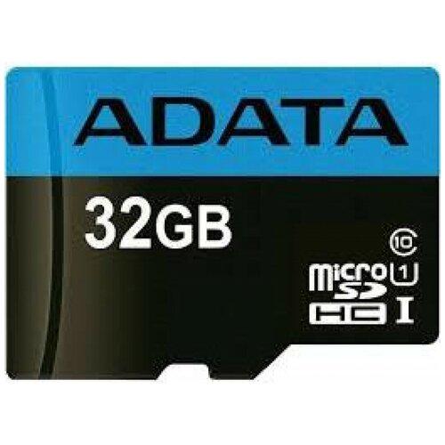 Фото - Карта памяти Adata microSDHC Premier Class 10 UHS-I U1 (30/10MB/s) 32GB + ADP a data карта памяти 16gb premier a1 microsdhc uhs i class 10 adata 90 25 mb s с адаптером