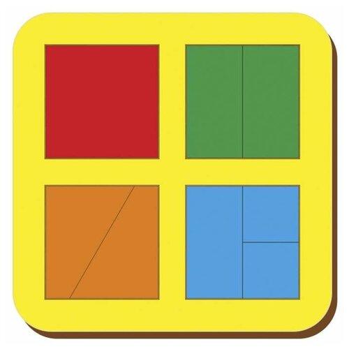 Рамка вкладыш Сложи квадрат, Никитин, 4 квадрата, ур.1, Woodland, арт.64201