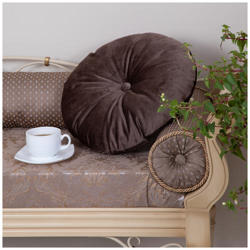 Подушка декоративная Вельвет Кофе