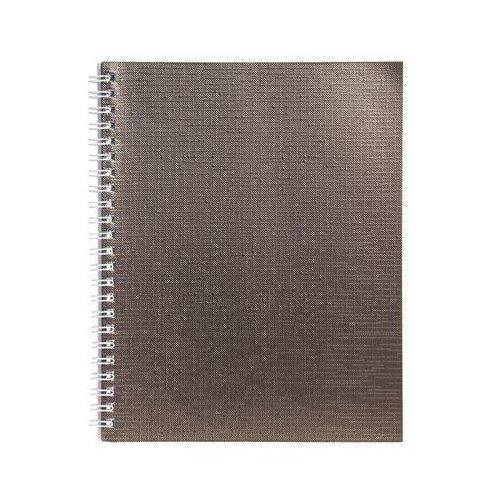 Купить Бизнес-тетрадь Hatber Metallic А5 48 листов коричневая в клетку на спирали (148x210 мм) 7 шт., Тетради