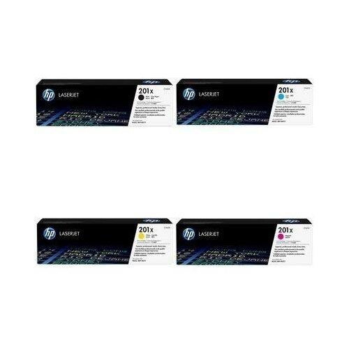 Фото - HP CF402X-CF403X-CF401X-CF400X Картриджи комплектом 201X полный набор повышенной емкости (High Yield) CMYK:2.3K, BK:2.8K стр. [выгода 3%] для LaserJet M252dw M252, M252n, M274n M274, M277dw M277, M277n hp m0j98ae m0j94ae m0j90ae m0k02ae картриджи комплектом 991x полный набор повышенной емкости cmyk 16k bk 20k стр [выгода 2