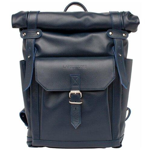 Кожаный рюкзак для ноутбука Eliot Dark Blue