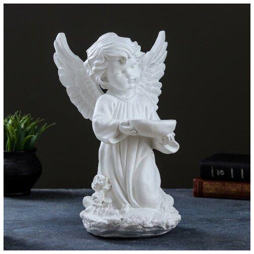 Фигура Ангел с чашей белый 19х19х33см фигура малышка ангел белая 25х12х12см 4786376