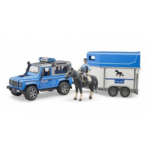 Внедорожник Bruder Land Rover Defender полицейский с прицепом 02-588