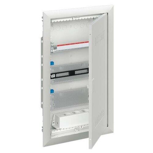 ABB Шкаф мультимедийный с дверью с радиопрозрачной вставкой (3 ряда) UK636MW