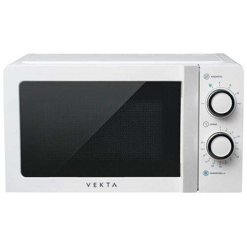 Микроволновая печь VEKTA MS720СHW (700 Вт; 20 л; 6 уровней мощности; подсветка камеры; звуковой сигнал; режим разморозки/)