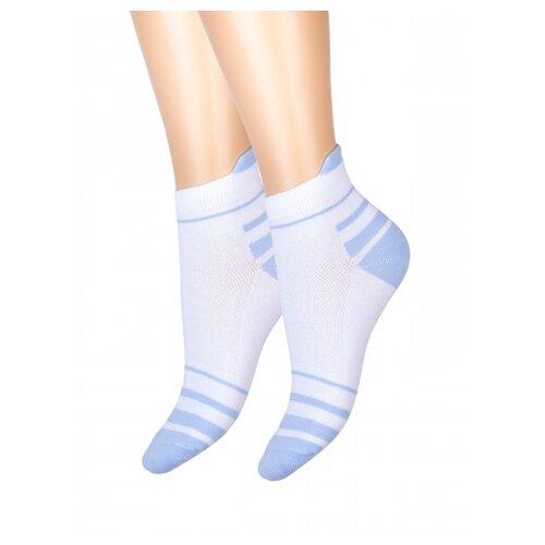 Носки женские Красная ветка С 418, Белый, Голубой, 23 (размер обуви 35-37)