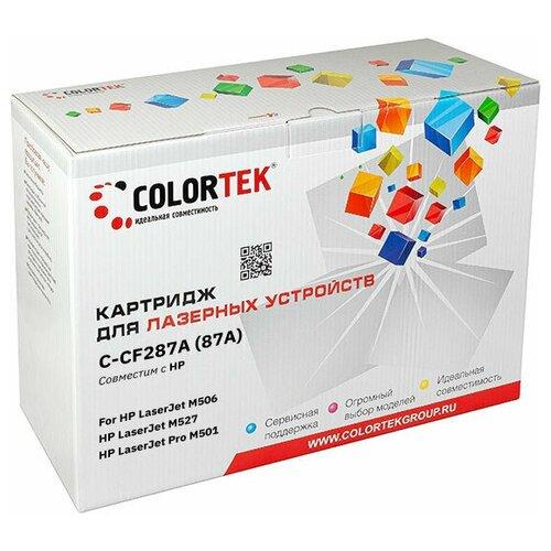 Фото - Картридж лазерный Colortek CT-CF287A (87A) для принтеров HP картридж лазерный colortek ct ar016t для принтеров sharp