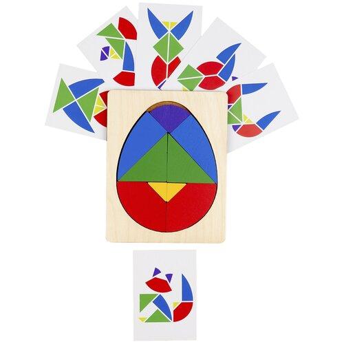 Головоломка Raduga Kids Колумбово Яйцо с карточками бежевый/красный/синий