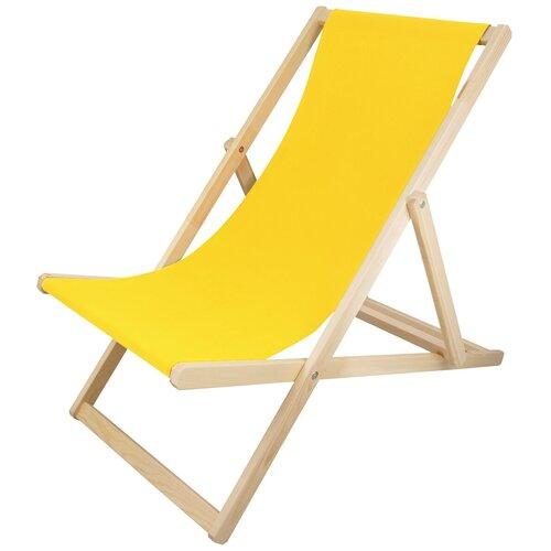 Шезлонг KETT-UP PICNIC ECO, желтый стул kett up picnic eco дерево цвет беленый